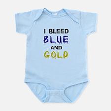 I bleed blue and gold Infant Bodysuit