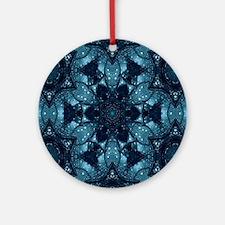 hipster mandala teal flower  Round Ornament