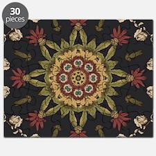 hipster vintage floral mandala Puzzle