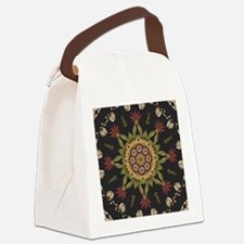 hipster vintage floral mandala Canvas Lunch Bag