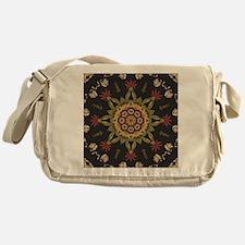 hipster vintage floral mandala Messenger Bag