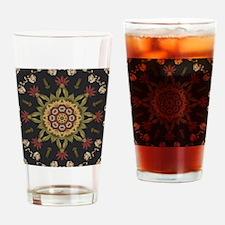 hipster vintage floral mandala Drinking Glass