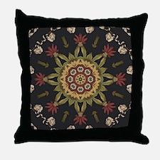hipster vintage floral mandala Throw Pillow