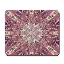 girly pink lace mandala floral Mousepad