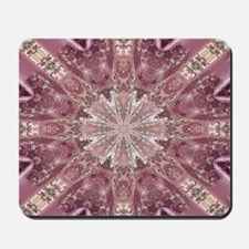 girly pink lace mandala floral Mousepad
