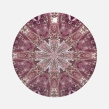 girly pink lace mandala floral Round Ornament