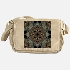 bohemian floral metallic mandala Messenger Bag