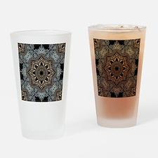 bohemian floral metallic mandala Drinking Glass