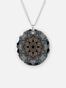 bohemian floral metallic man Necklace