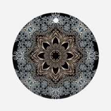 bohemian floral metallic mandala Round Ornament