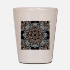 bohemian floral metallic mandala Shot Glass