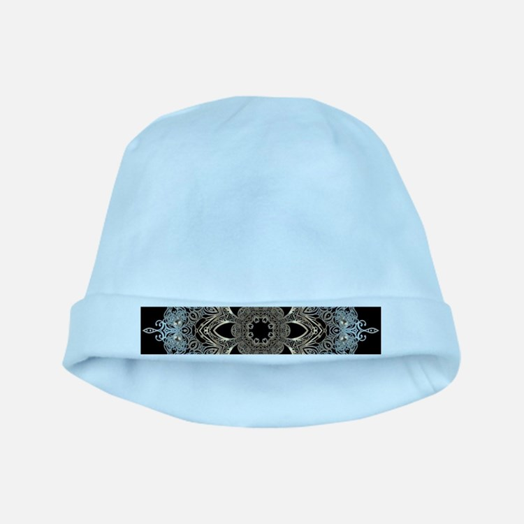 bohemian floral mandala hipster baby hat