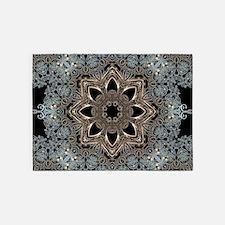 bohemian floral mandala hipster 5'x7'Area Rug