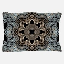bohemian floral mandala hipster Pillow Case