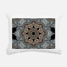 bohemian floral mandala Rectangular Canvas Pillow