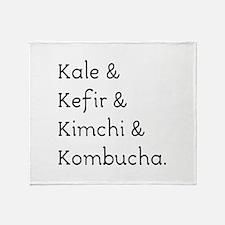 Kale Kefir Kimchi And Kombucha Throw Blanket