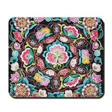 vibrant colorful flowers bohemian Mousepad