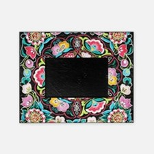 vibrant colorful flowers bohemian Picture Frame