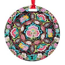 vibrant colorful flowers bohemian Ornament