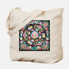 vibrant colorful flowers bohemian Tote Bag