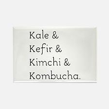 Kale Kefir Kimchi And Kombucha Magnets