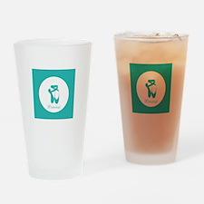 Team Pointe Ballet Aqua Monogram Drinking Glass