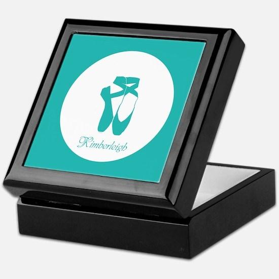 Team Pointe Ballet Aqua Monogram Keepsake Box