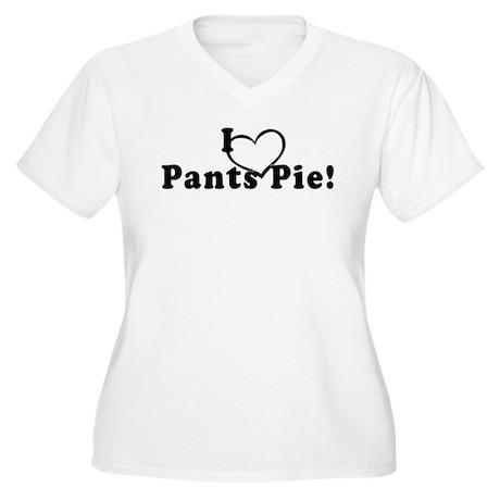 Pants Pie Women's Plus Size V-Neck T-Shirt