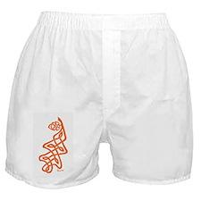 Orange Oak Leaf Boxer Shorts