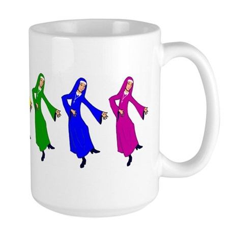 Rainbow Nuns Large Mug