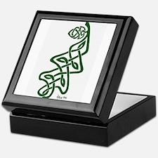 Green Oak Leaf Keepsake Box