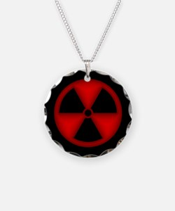 Red Radiation Symbol Necklace