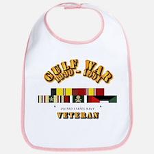 Navy - Gulf War 1990 - 1991 w Svc Ribbons - CA Bib
