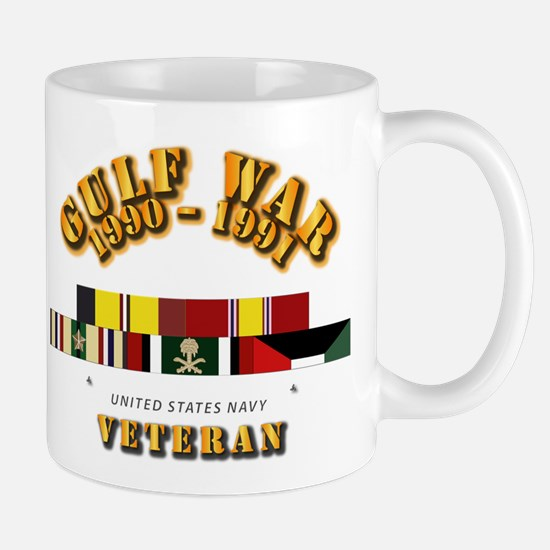 Navy - Gulf War 1990 - 1991 w Svc Ribbo Mug