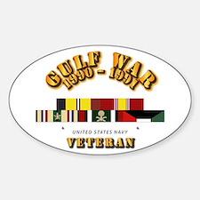 Navy - Gulf War 1990 - 1991 w Svc R Sticker (Oval)