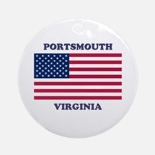 Portsmouth Virginia Round Ornament