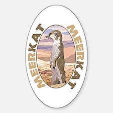 Meerkat Oval Decal
