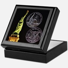 Statue of Liberty Half Dollar Keepsake Box