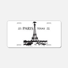 Paris, Texas Aluminum License Plate