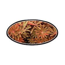 Orange Flower Pattern Patch