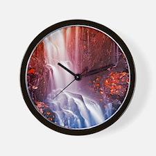 Colorfull waterfall Wall Clock