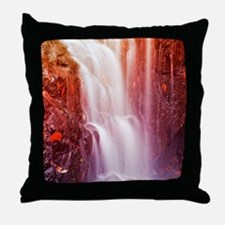 Colorfull waterfall Throw Pillow