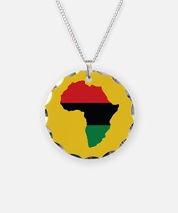 Red, Black and Green Africa Flag Necklace