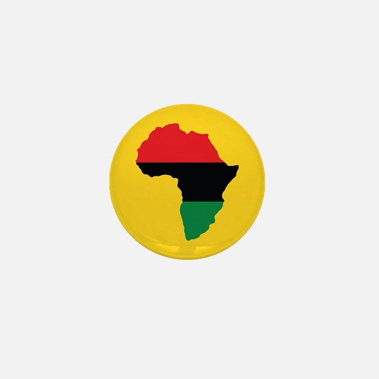 Red, Black and Green Africa Flag Mini Button