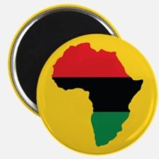 Red, Black and Green Africa Flag Magnets