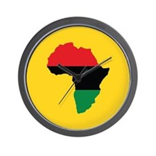 Red, Black and Green Africa Flag Wall Clock