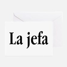 La jefa Greeting Cards