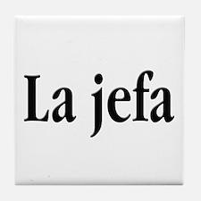 La jefa Tile Coaster