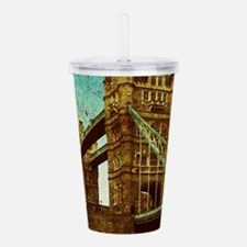vintage London Tower B Acrylic Double-wall Tumbler