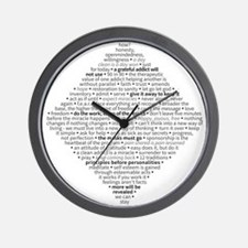 Recovery Slogans & Sayings Wall Clock
